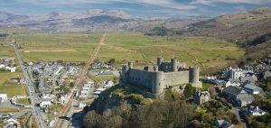 Harlech Aerial Mid Castles Historic sites